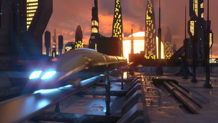 Sci-Fi Train by NIKOMEDIA