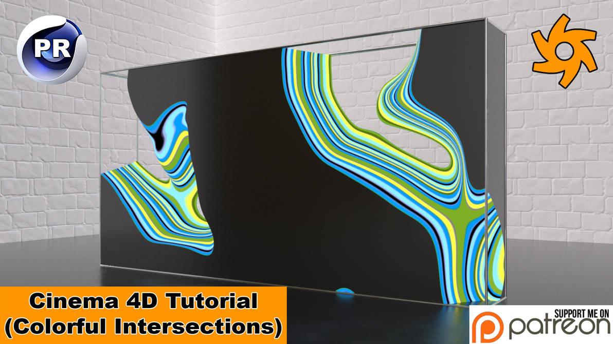 Colorful Intersections (Cinema 4D Tutorial) by NIKOMEDIA