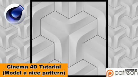 Model a nice Pattern (Cinema 4D Tutorial) by NIKOMEDIA