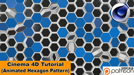 Animated Hexagon Pattern (Cinema 4D Tutorial) by NIKOMEDIA