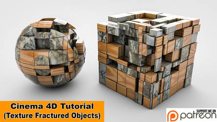 Texture Fractured Objects (Cinema 4D Tutorial) by NIKOMEDIA