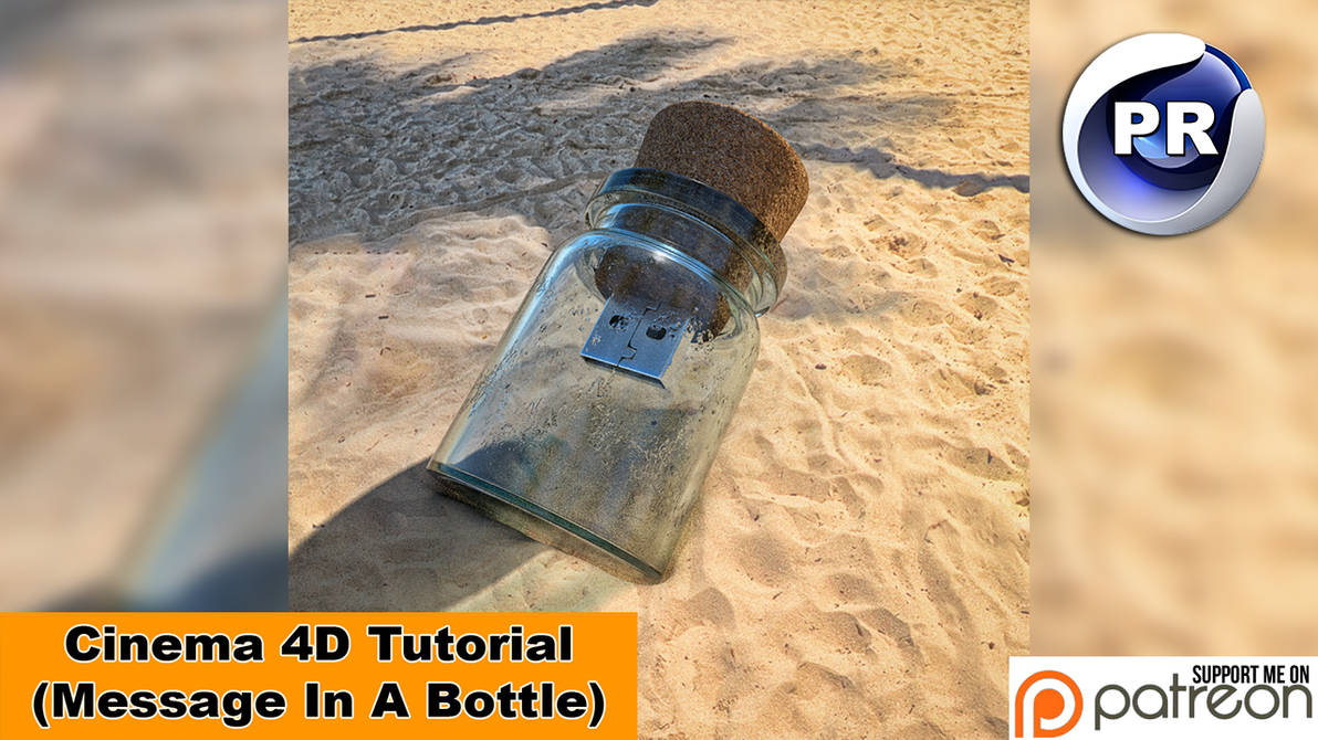 Message in a bottle (Cinema 4D Tutorial) by NIKOMEDIA