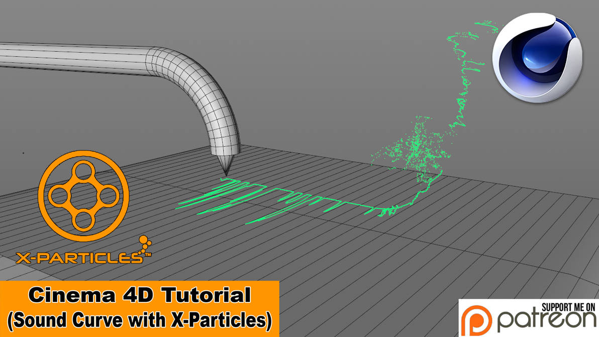 Sound Curve with X-Particles (Cinema 4D Tutorial) by NIKOMEDIA