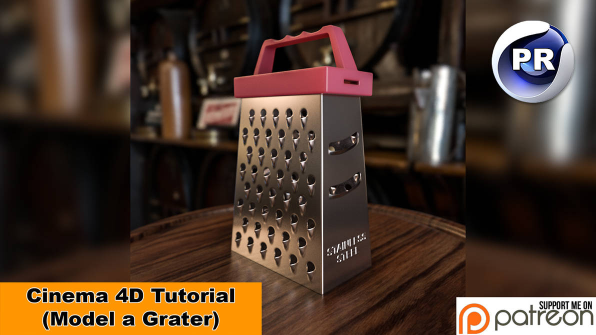 Model a Grater (Cinema 4D Tutorial) by NIKOMEDIA