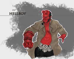 H for Hellboy by SuperJV
