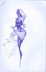 Madonna of Ebony Sketch by vandersonvieira
