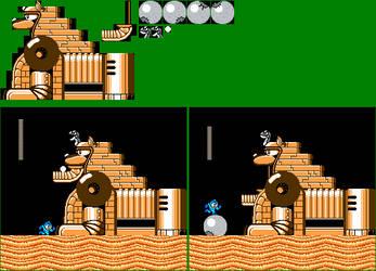 Mega Man 4 - Unused Sphinx Miniboss Recreation by mike1967-now