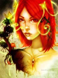 Orange girl by Insaro