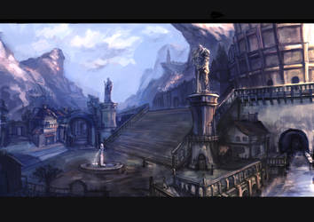 The Capital City of Guldar by Zharcus