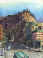 Cliff City in Color by Benjamin-the-Fox