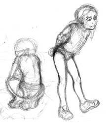 Beach Girl Rough Sketch by Benjamin-the-Fox