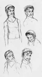 Aviator Guy Sketch by Benjamin-the-Fox