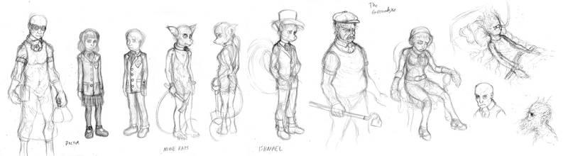 Sylvanshire character sketches by Benjamin-the-Fox