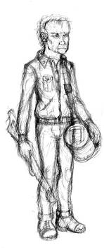 Captain Spurlock Sketch by Benjamin-the-Fox