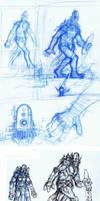 Robot Concept Progression by Benjamin-the-Fox