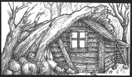 Benjamin's house: ink by Benjamin-the-Fox