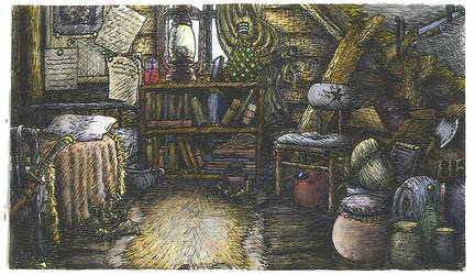 Benjamin's room: Color by Benjamin-the-Fox
