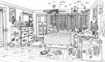 Bedroom Evening inks by Benjamin-the-Fox