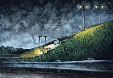 Highway Embankment by Benjamin-the-Fox