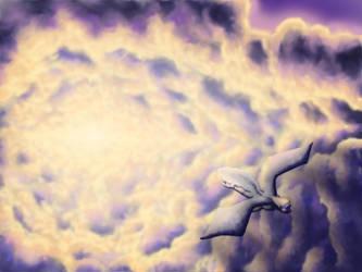 Dragon In Flight by Benjamin-the-Fox