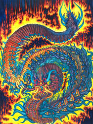 Fire Dragon in Color by Benjamin-the-Fox