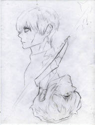 Tokyo Ghoul: re Kaneki / Haise (Sketch) by A-Lonely-Drawing