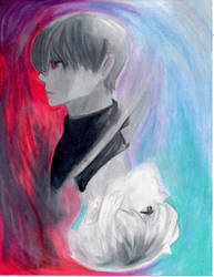Tokyo Ghoul: re Kaneki / Haise by A-Lonely-Drawing
