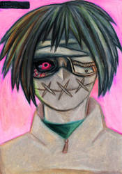Tooru Mutsuki (Ghoul Mask) by A-Lonely-Drawing