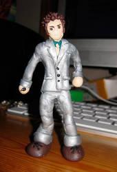 Dr. Who miniature sculpture by Emmuska