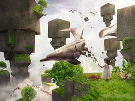 Pixel Block Dream by Antoshines