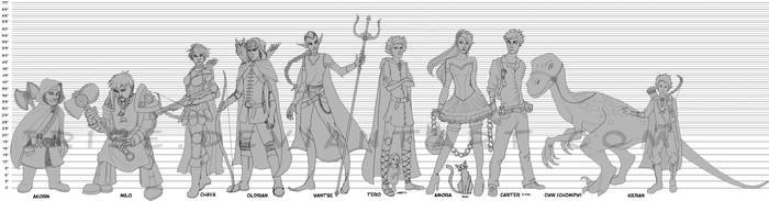DnD Character Lineup by Irise