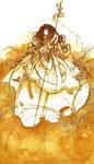 lady and the bird by Katari-Katarina
