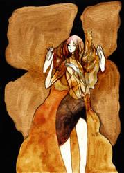 Angel with gold wings by Katari-Katarina