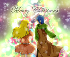 Shining Snowy Sky - Christmas Art by reiko-akire