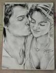 Sketch: Augustus Waters and Hazel Grace Lancaster by reiko-akire