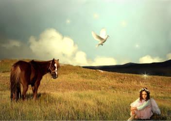 Peace Angel by bookbabie