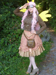 Steampunk Fluttershy by I-am-perry