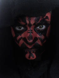 Darth Maul Makeup by tessitra