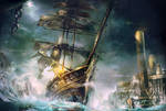 Plague Ship Sails into Korvosa by yanimator