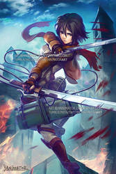 Attack on Titan Mikasa by yanimator