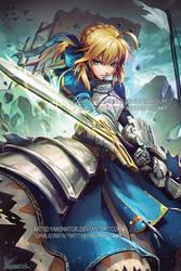 Fate Stay Night - Saber / King Arthur by yanimator