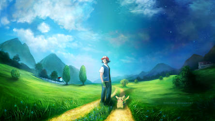 Leaving Pallet Town by SinsValentine