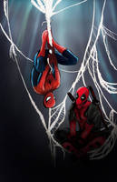 Spideypool by darkHarms