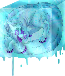 Cubey Wolf Fren by OkayVoid