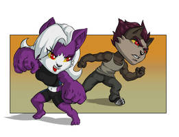 Vix And Wolf Chibi ver by faogwolf