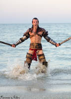 Gannicus Cosplay from Spartacus Art by Leon Chiro by LeonChiroCosplayArt