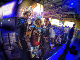 Real Assassin Brotherhood Cosplay in Gamescom 2014 by LeonChiroCosplayArt