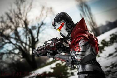 Blood Dragon Armour Cosplay Leon Chiro as Shepard by LeonChiroCosplayArt