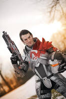 Commander Shepard Blood Dragon Armour Mass Effect by LeonChiroCosplayArt