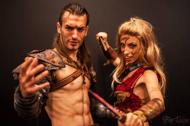 Gannicus and Saxa Cosplay - PREVIEW from Gamescom by LeonChiroCosplayArt